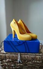 Ladies Vivienne Westwood Melissa High Heel Shoes Yellow size 6