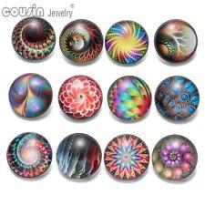 12pcs/lot Spiral Pattern 18mm Snap Button Fit Leather Bracelet Jewelry KZ0433