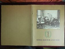 YOUR DOCTOR & YOU, LEADING MAGAZINE SINCE 1928/ILLUSTRATED/RARE BIG 1934 1st