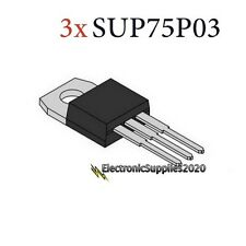 3x P-Channel Mosfet 30V 75A 187W SUP75P03-07-E3 USA Fast Shipping