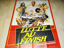 LUTTE AU FINISH cascadeurs  !  affiche cinema cars
