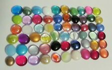 "Mancala Game ""Replacement Glass Stones"" Assorted Colors - 60 Glass Gems Differen"