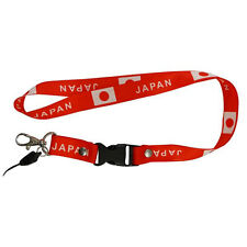 JAPAN RED COUNTRY FLAG LANYARD KEYCHAIN PASSHOLDER .. NEW