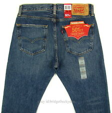 Levis 501 CT Jeans Mens Button Fly SZ 32 x 32 BLUE FADED DISTRESSED Tapered Leg