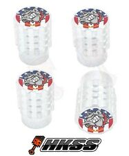 4 Aluminum Tire Air Valve Stem Caps Car Truck Bike Silver - USMC BULLDOG EL6