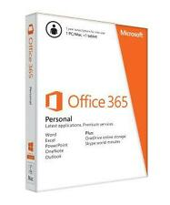 NEW & SEALED Microsoft Office 365 Personal Subscription License - 1 PC/Mac