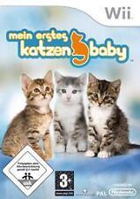 Nintendo Wii MEIN ERSTES KATZENBABY DEUTSCH Nintendogs Cats Sehr guter Zustand