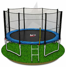12FT TRAMPOLINE WITH SAFETY NET ENCLOSURE SPRING PADDING LADDER RAIN COVER