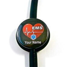 ID STETHOSCOPE NAME TAG EMS STAR IF LIFE HEARTBEAT, EMT,PARAMEDIC, MEDICAL,NURSE
