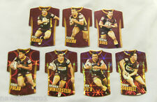 #13. LOT OF SEVEN 2009 RUGBY LEAGUE FOIL TEAM JERSEY CARDS - BRISBANE BRONCOS