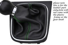 GREEN STITCHING FITS VW EOS CONVERTIBLE 2006-2013 LEATHER GEAR GAITER ONLY