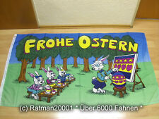 Fahnen Flagge Frohe Ostern Hasenschule - 90 x 150 cm