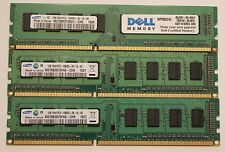 Total of 6GB Samsung DDR3 1333 MHz RAM Memory
