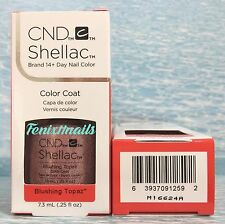 NEW CND Shellac BLUSHING TOPAZ 14+ Day UV LED Gel Color Nail Polish ~ STARSTRUCK