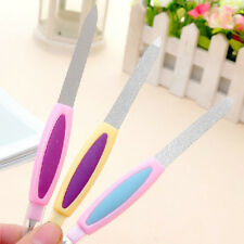 2 in 1 Metal Nail File Cuticle Trimmer Remover Buffer UK143 SK