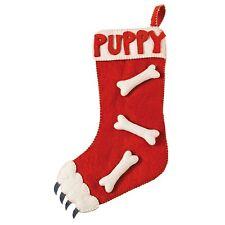 Dog's Puppy Bone Christmas Stocking Handmade Natural Felted Wool Fair Trade NEW