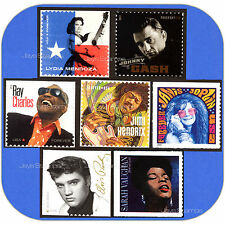 2013-2016  MUSIC ICONS  Series  FULL SET of 7  Genuine  MINT  Forever®  Stamps