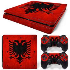 Sony PS4 Playstation 4 Slim Skin Aufkleber Schutzfolie Set - Albania Motiv