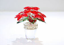 Swarovski Crystal Christmas Poisettia Large Red Flower 1139997 Brand New In Box