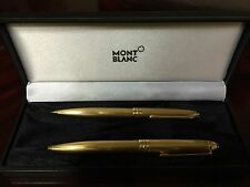 MONTBLANC SOLITAIRE VERMEIL BARLEY GOLD BALLPOINT PEN  & PENCIL NEW IN BOX
