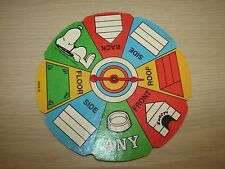 Milton Bradley Snoopy's Doghouse Game 1977 #4705 Replacement Spinner Part Parts