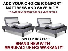 Serta iComfort Split King Size Motion Custom II Adjustable Bed Base Foundation