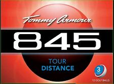 TOMMY ARMOUR 845 TOUR DISTANCE GOLF BALL (12 PACK, 3 LAYER, WHITE)