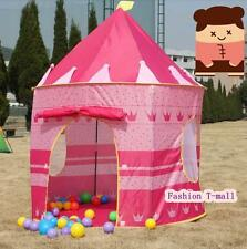 Childrens Pink Pop Up Princess Castle Indoor Play House Tent Child Xmas Gift