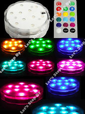 2 (10) LED RGB SUBMERSIBLE Wedding Light Eiffel Tower Vase Base Remote Control