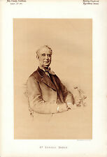 EDWARD BOWLY - CIRENCESTER -  SHORT HORNS AND BANKING - SEPIA PORTRAIT (1881)