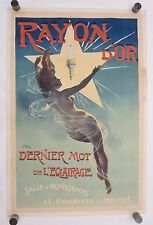 Original 1895 Vintage RAYON D'OR French Affiche Poster on Linen by PAL