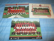 3 SPLENDIDE CARTOLINE SOLI15€ AC MILAN 88 89 94 2003 POSTCARD FOOTBALL NO MAGLIA