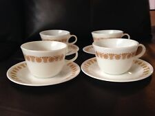 Vintage Corning Corelle Pyrex Butterfly Gold Cup And Saucer Set Of Four GUC