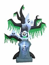 9 Foot Halloween Inflatable Tombstone Grave Ghost Tree Scene Yard Decoration