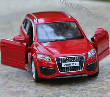 Model Car Audi Q7 1:36 Alloy Diecast Toy Open two doors Collection&Gift Red wine