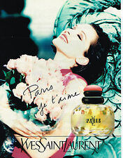 PUBLICITE ADVERTISING 104 1995  YVES SAINT LAURENT PARIS JE T'AIME  parfum femme