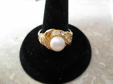VTG. AVON *SIZE 6* PEARLY CONTEMPORARY RING **NEW NOT IN ORIGINAL BOX**  MINT
