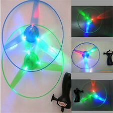 New Children Outdoor Toy Flash Light UFO Flying Saucer Frisbee Top Toys SM