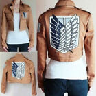 Attack Cool cosplay on Titan Shingeki no Kyojin Recon corps jacket coat costume