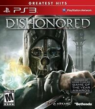 DISHONORED PS3 Playstation 3 *DISC ONLY* TESTED FREE SHIPPING GREATEST HITS