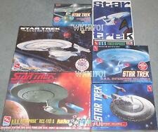 USS ENTERPRISE NCC-1701 TOS, Refit, B, C, D, E Lot 6 Model Kits MISB Star Trek