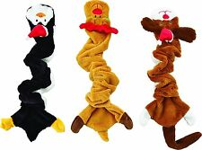"""1 SPOT ETHICAL HOLIDAY SKINNEEEZ BUNGEE DOG ASSORTED 21"""" TOY. FREE SHIP IN USA"""