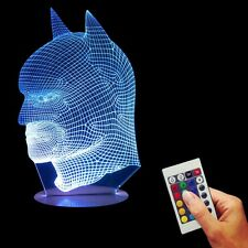 Chrismas 3D Vision Illusion Batman Sideface USB Color Changing LED Night Light