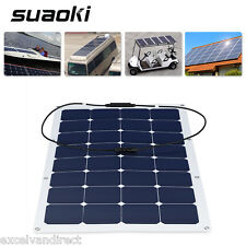 100W Semi-Flexible Bendable Solar Panel Battery Charger for RV Boat Car Camping
