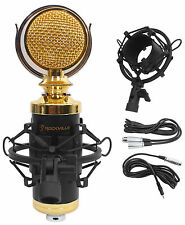 Rockville RCM02 Pro Studio Recording Condenser Microphone Mic+Metal Shock Mount