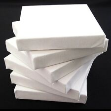 """Set of 6 Artists Blank Canvas 20cm x 20cm Flat 17mm Canvas Gesso Primed 8""""x8"""""""
