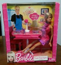 New Mattel Barbie Dinner Date Night Dining Room Set and Doll & Accessories