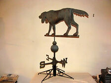 Antique Large Copper Hunting Dog - Hound Weather Vane