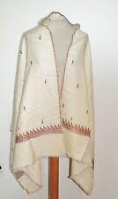 Victorian / Edwardian Silk / Wool Hand Embroidered Shawl