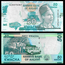 World Paper Money - Malawi 50 Kwacha 2016 P58 @ Crisp UNC